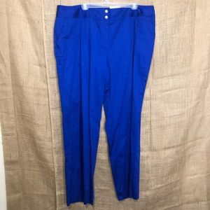 Cato 22W Blue Classic Fit Pants Royal NWT 22 Plus